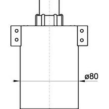 Запорная арматура alcaplast для унитаза с нижней подводкой