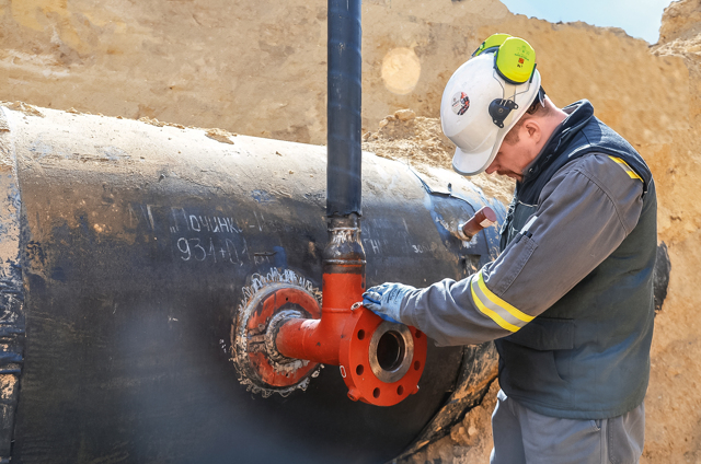 Сварка газовой трубы с отключением газа