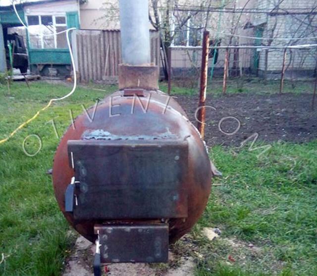 Самая лучшая банная печь из трубы