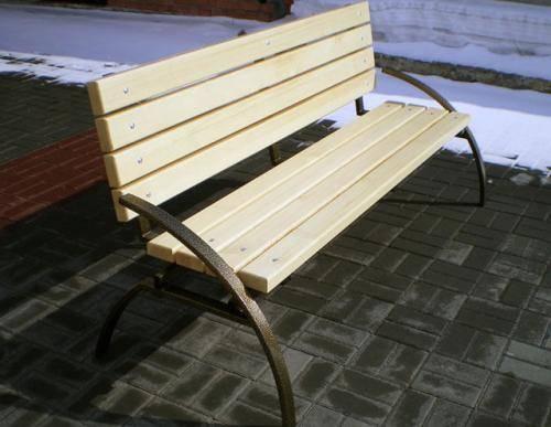 Садовая скамейка из проф трубы