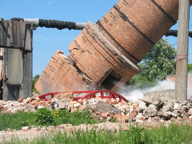 Технология демонтажа дымовой трубы